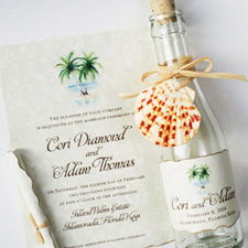 Beach Wedding Invitations And Save The Dates
