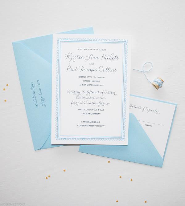 Wood Land Paper Cut Wedding Invitations