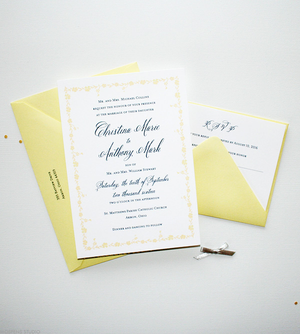 Best Green And Gold Celtic Wedding Invite With Claddagh Intricate Pattern Border