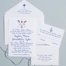 Lake Cote Nautical Wedding Invitations