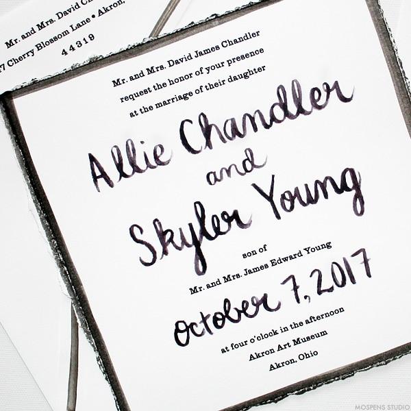 Artist Inspired Modern Wedding Invitations