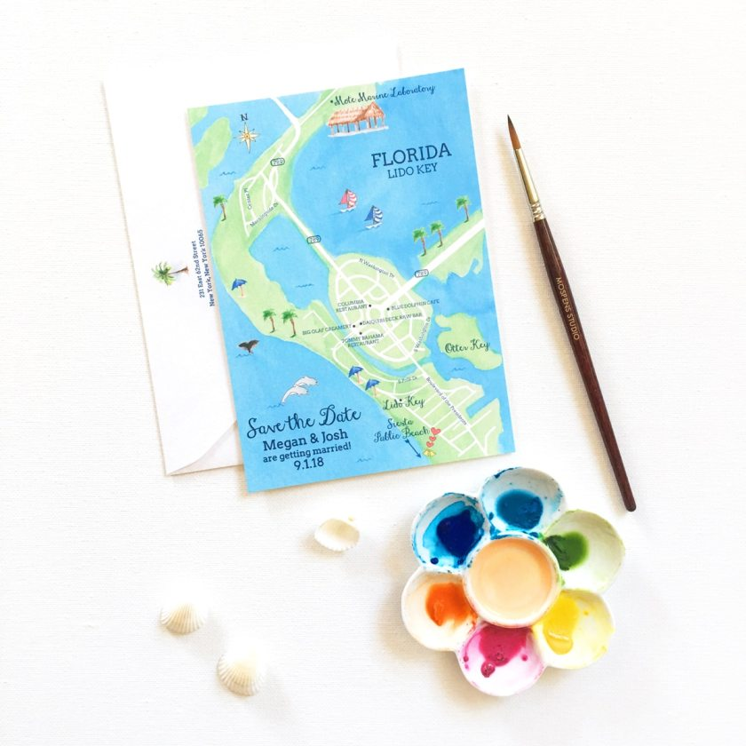 How Cute Is This Ilrated Map Greeting Card Kind Of Ilration Would Be So