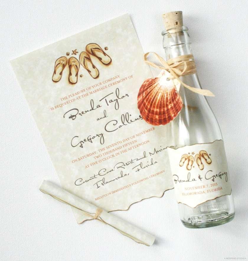 21 Bottle Beach Wedding Invitation Ideas You Ll Love For Your