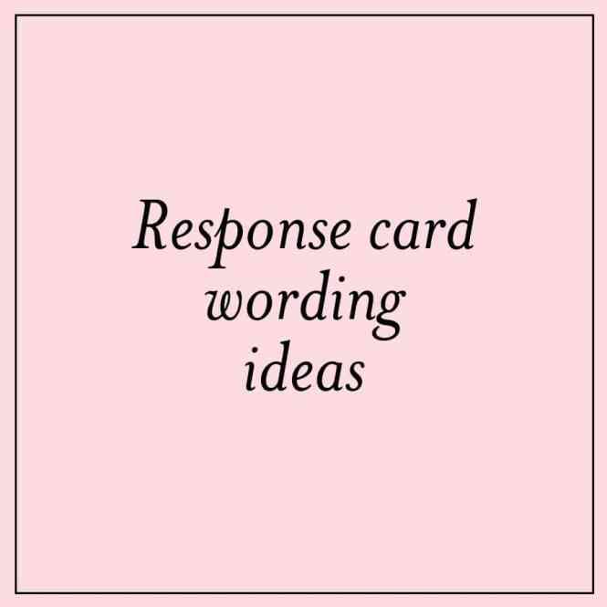 Creative Response Card Wording Ideas Custom Invitations