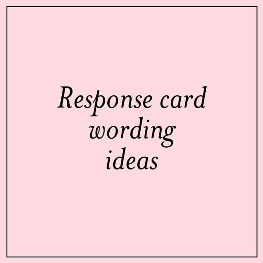 Creative Response Card Wording Ideas