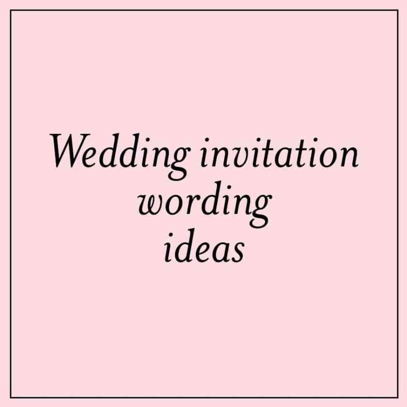 Wedding Invitation Wording Ideas With Poems 1