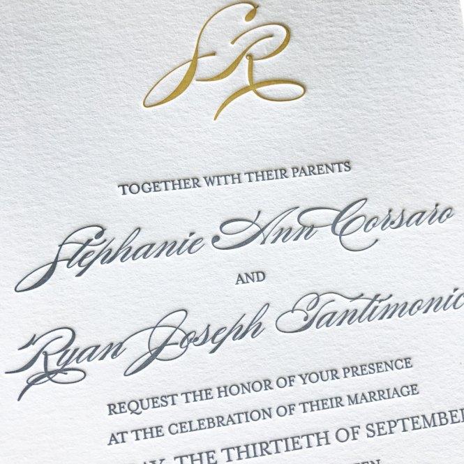 Stephanie Letterpress Wedding Invitations