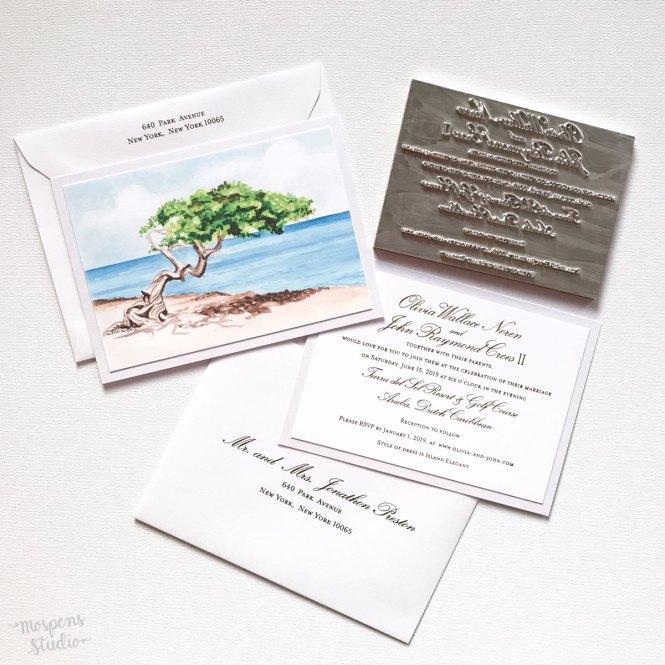 Beach Wedding Invitations Archives Elegant Custom