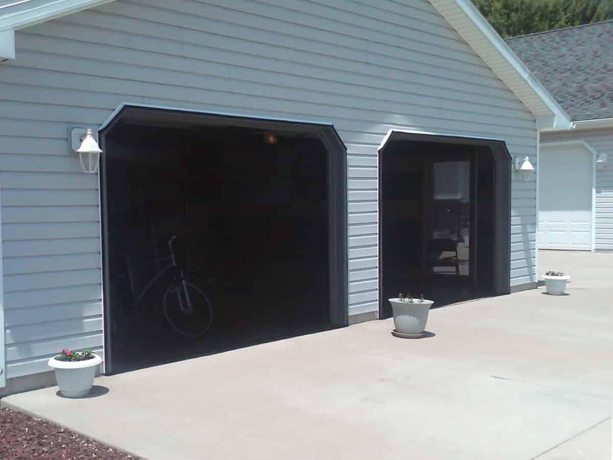 Garage Door Screens Mosquito Curtains
