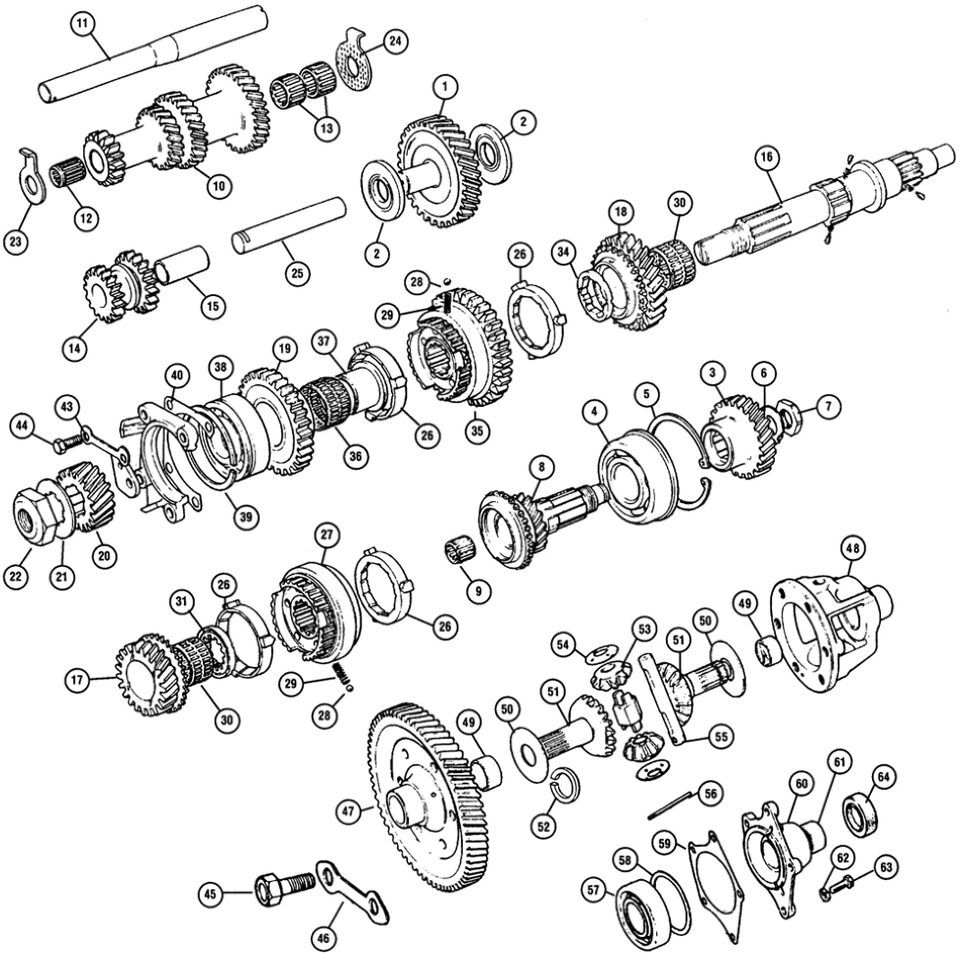Internal Gearbox Gears Amp Differential