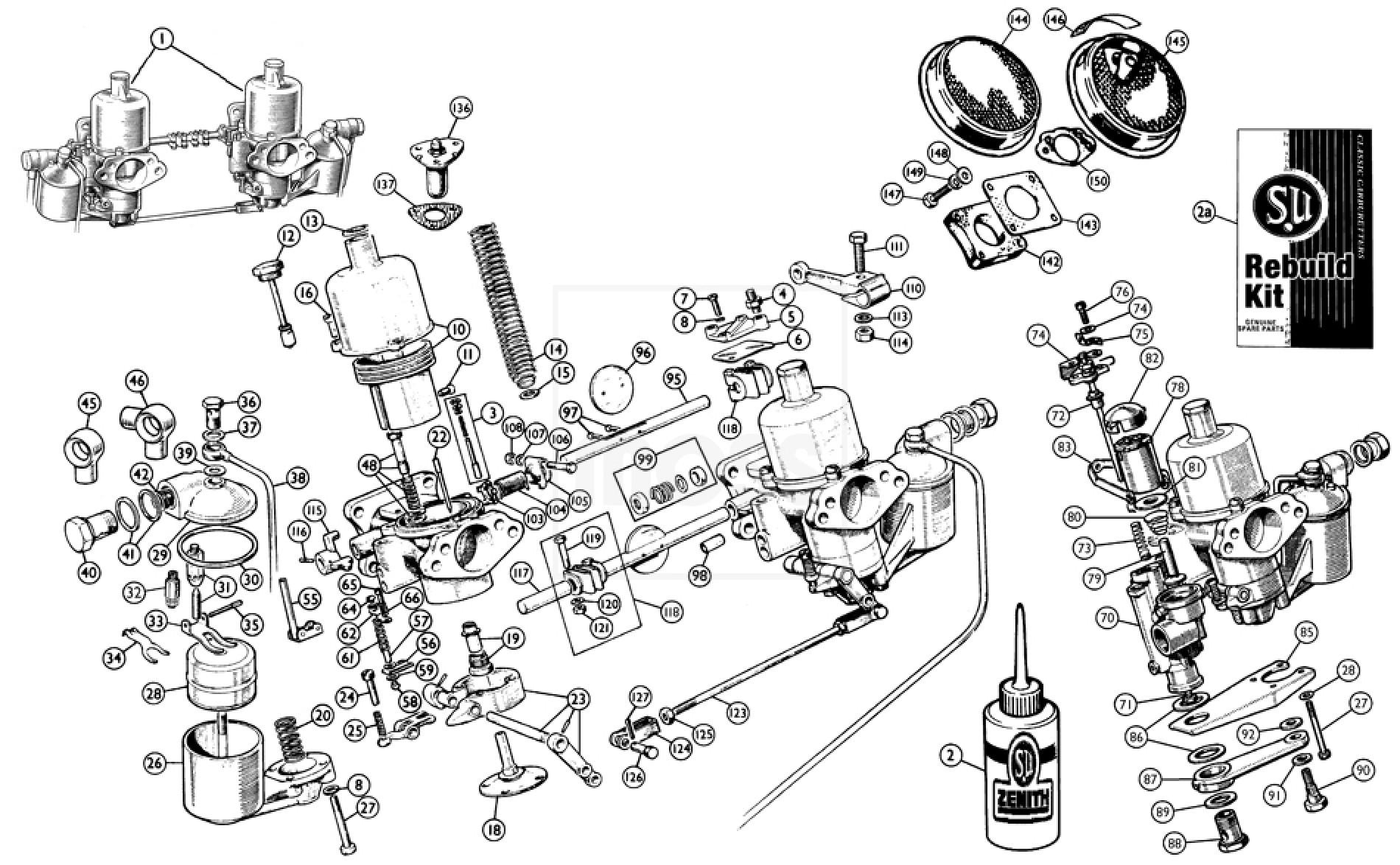 Twin Hd6 Carburettors Amp Air Filters