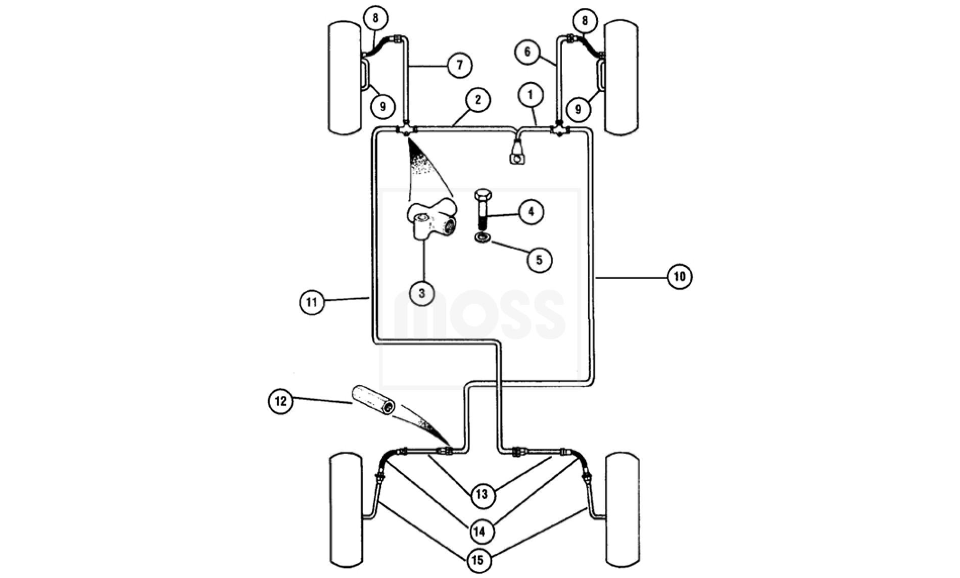 Brake Pipes Diagonal Split System