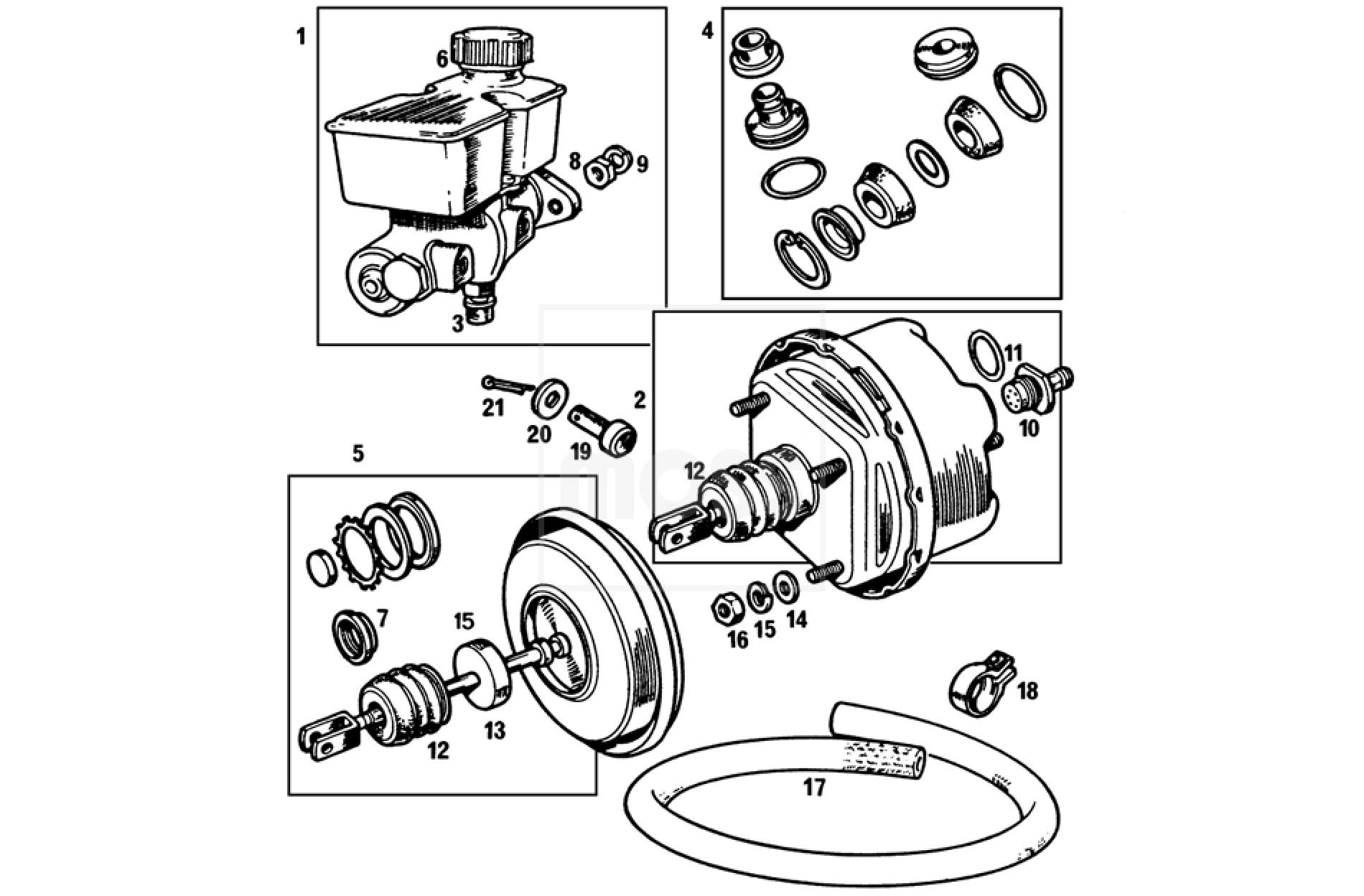 Mgb Brake Servo Dual Line System