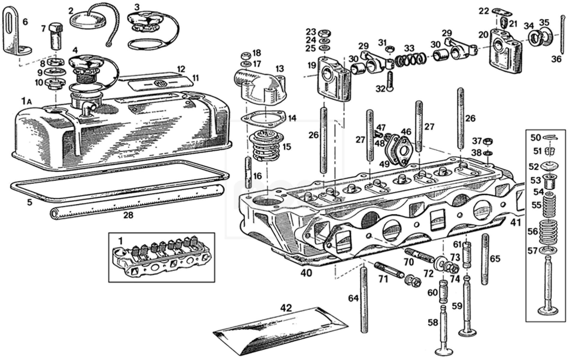 Cylinder Head & Fittings: 3 Main Bearing (18G-GA)