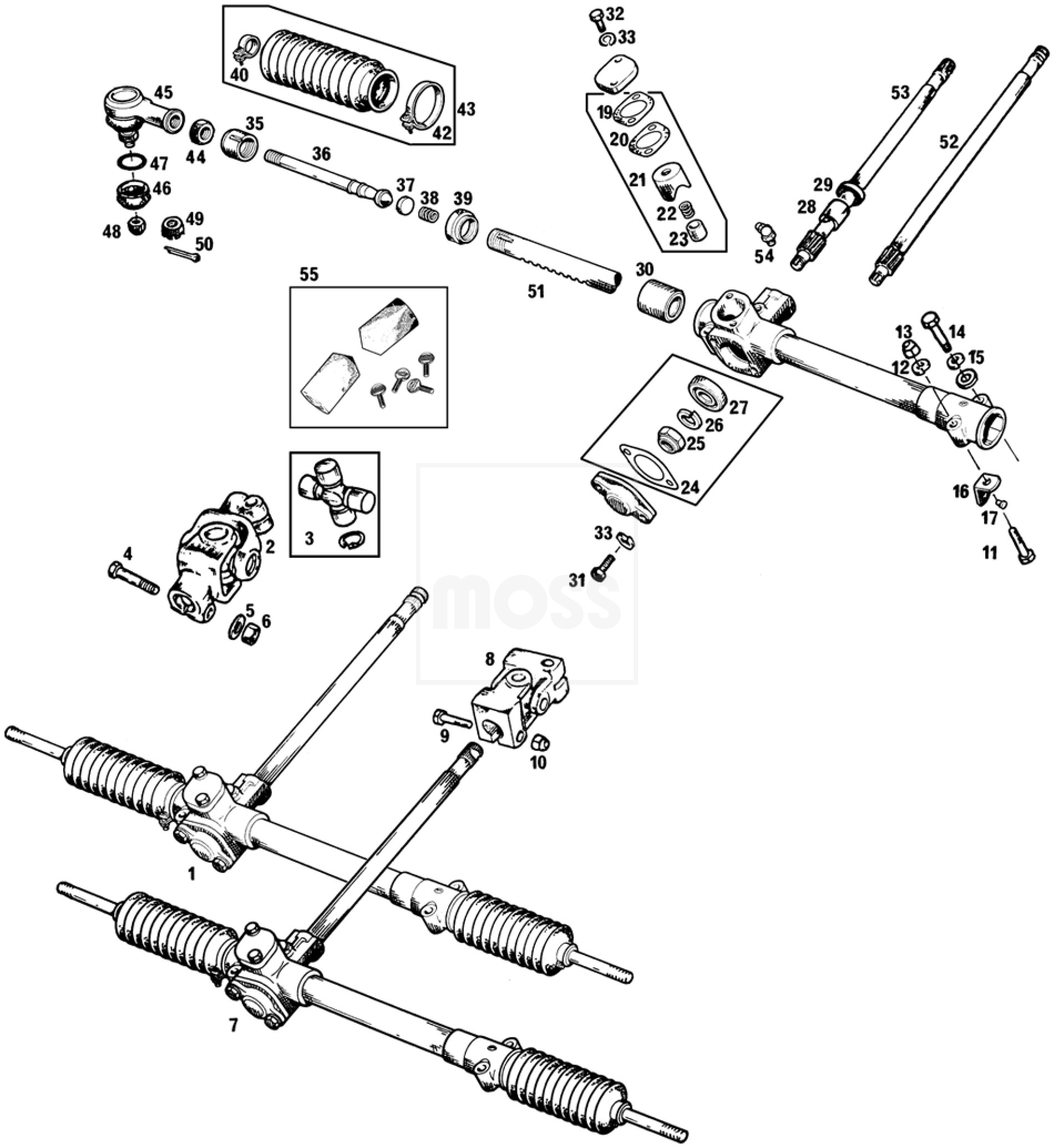 MGB steeering rack replacement or inner tie rod end repair