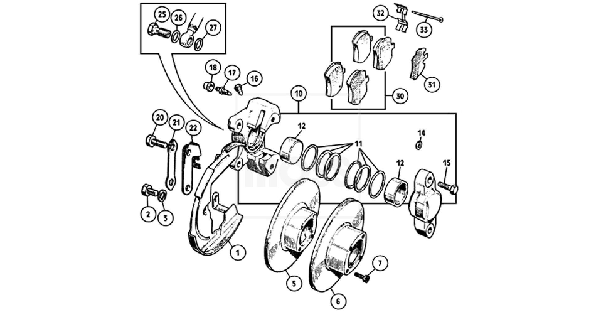 Midget Brakes FRONT BRAKES Front Brakes Sprite & Midget