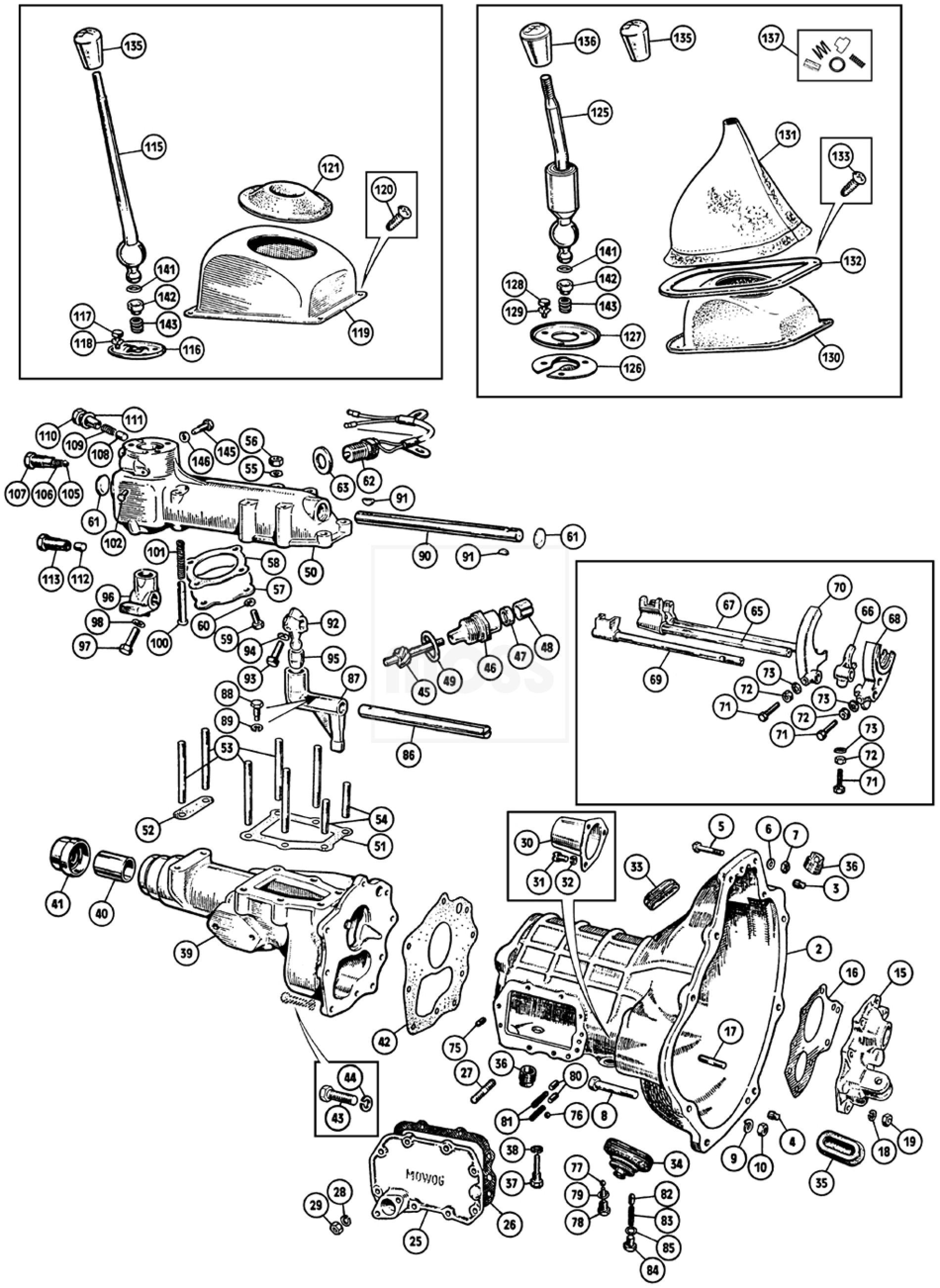 External Gearbox: Sprite & Midget 1275cc