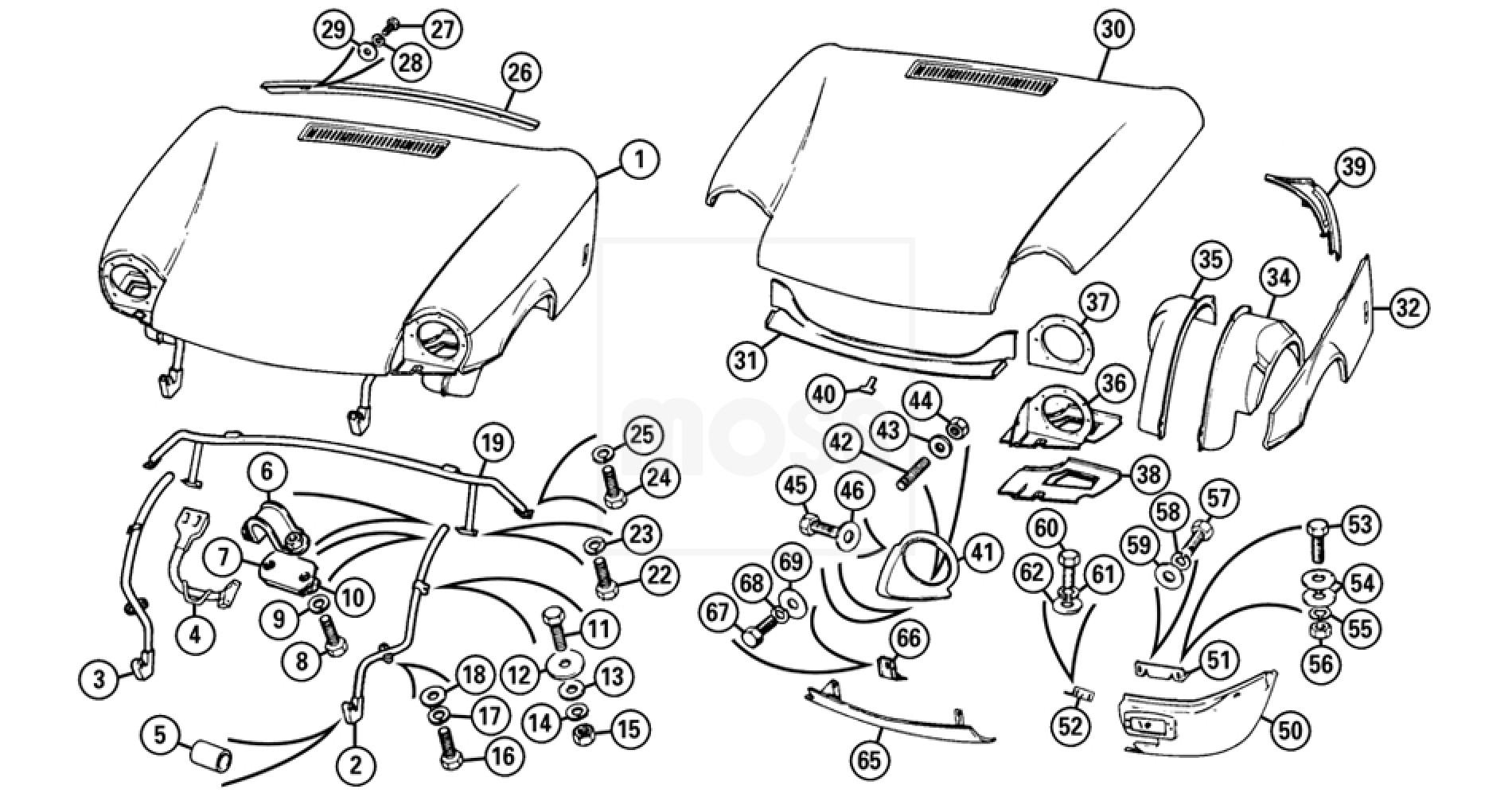 External Body Panels Bonnet Amp Front Valance