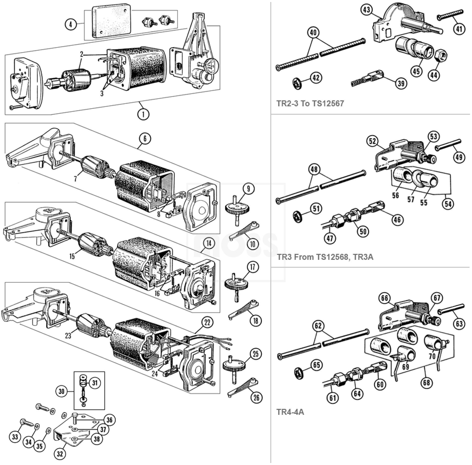 Wiper Motor Parts