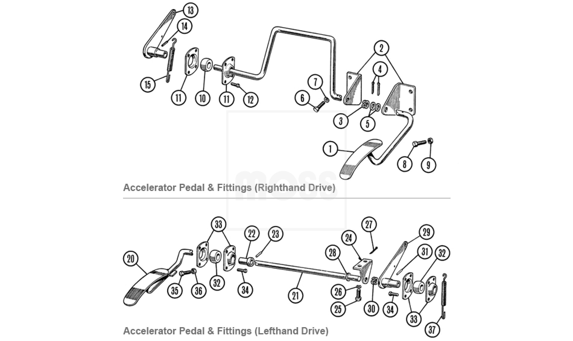 Accelerator Pedal Amp Fittings Tr2 4a