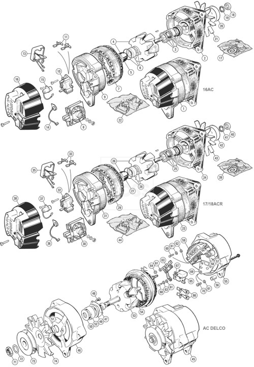 small resolution of alternators u0026 fittings lucas 16acr 17acr 18acr ac delco tr5 6lucas alternator