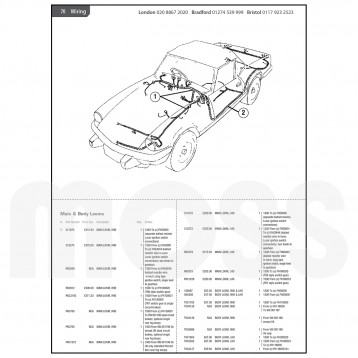 Spitfire MkIV-1500 Parts Catalogue