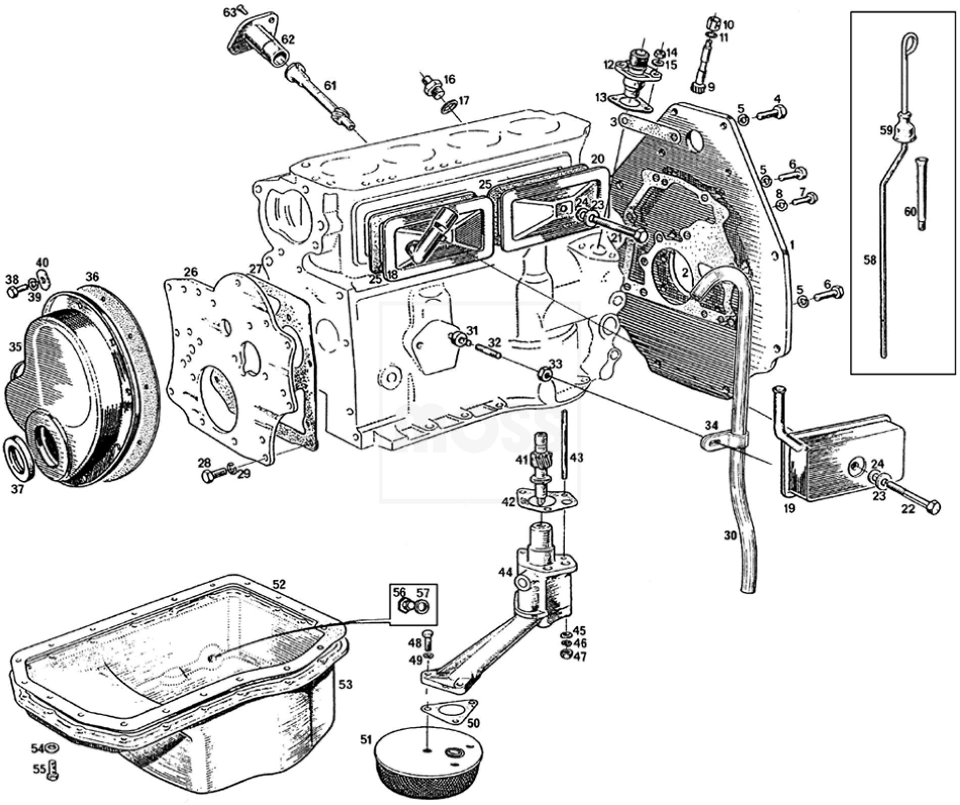 Timing Cover Engine Plate Amp Sump 3 Main Bearing 18g Ga