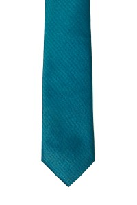Turquoise Skinny Two Tone Tie