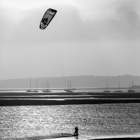 Early morning Kiteboarder