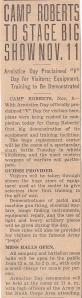 Army newspaper article in 1941