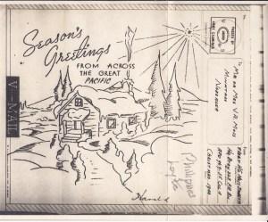 V-Mail Christmas card 1944