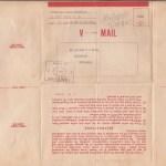 V-Mail unmicrofished back side 1944