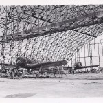 Japanese plane in hanger in Tinian, 1944