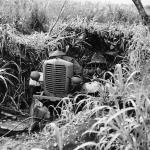 Destroyed tractor, Tinian 1944