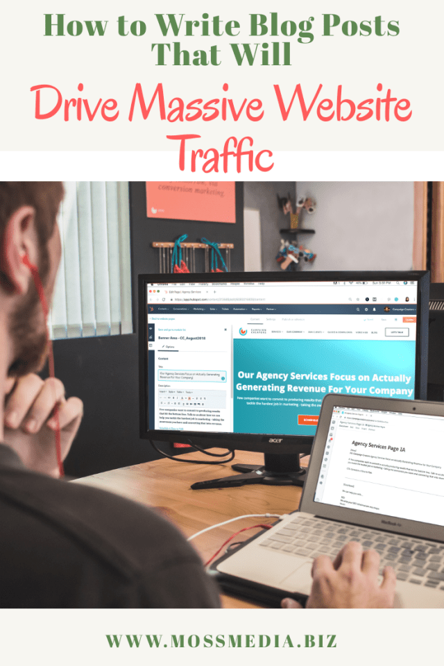 How to Write Blog Posts That Will Drive Massive Website Traffic