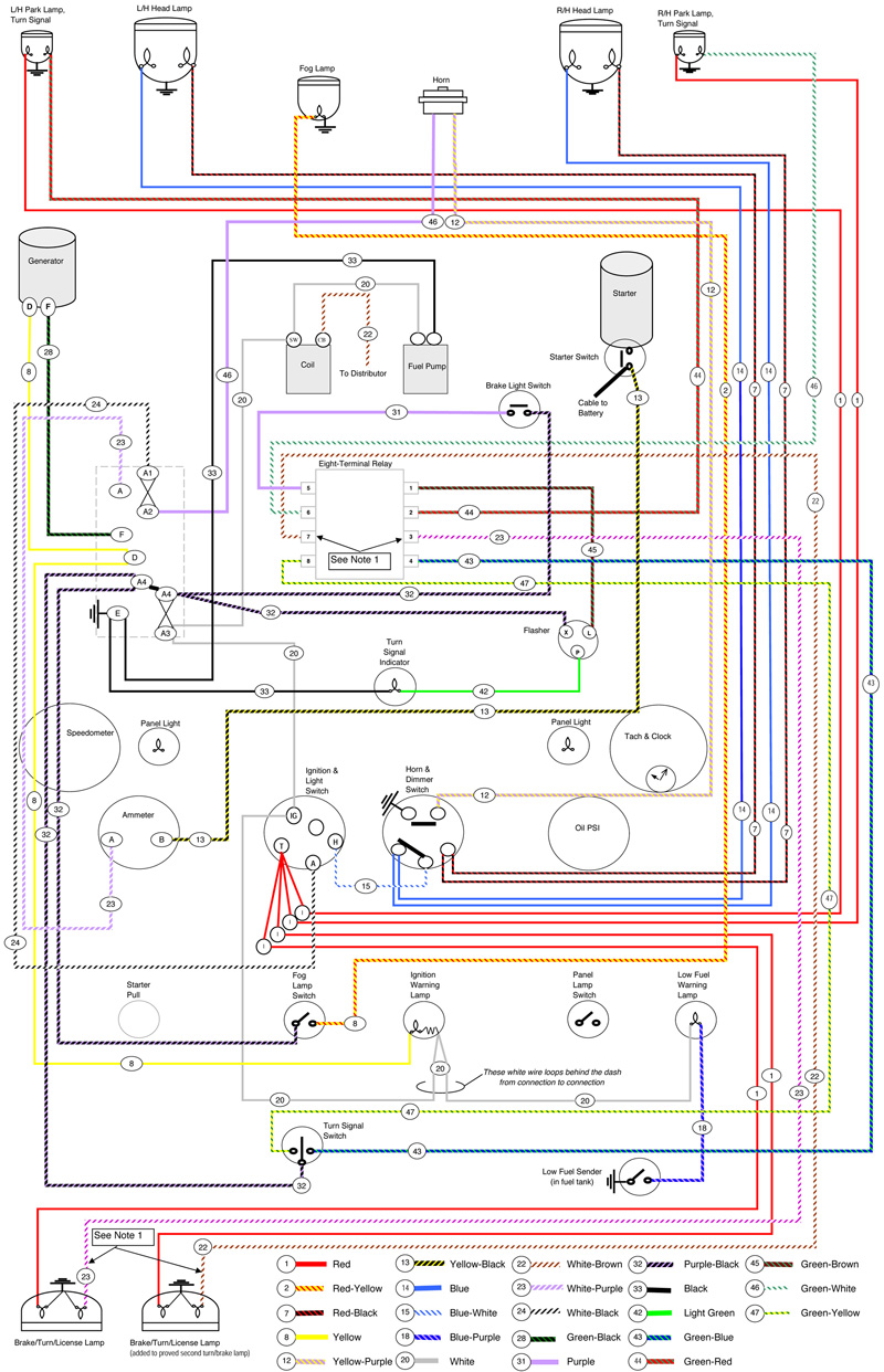 hight resolution of pint size project lucas wiring moss motoring lucas headlight wiring diagram lucas headlight wiring diagram