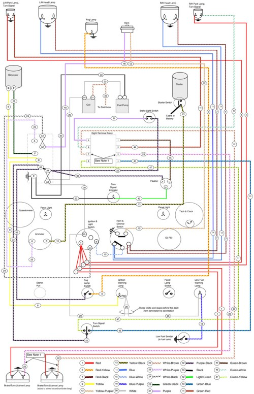 small resolution of pint size project lucas wiring moss motoring lucas headlight wiring diagram lucas headlight wiring diagram