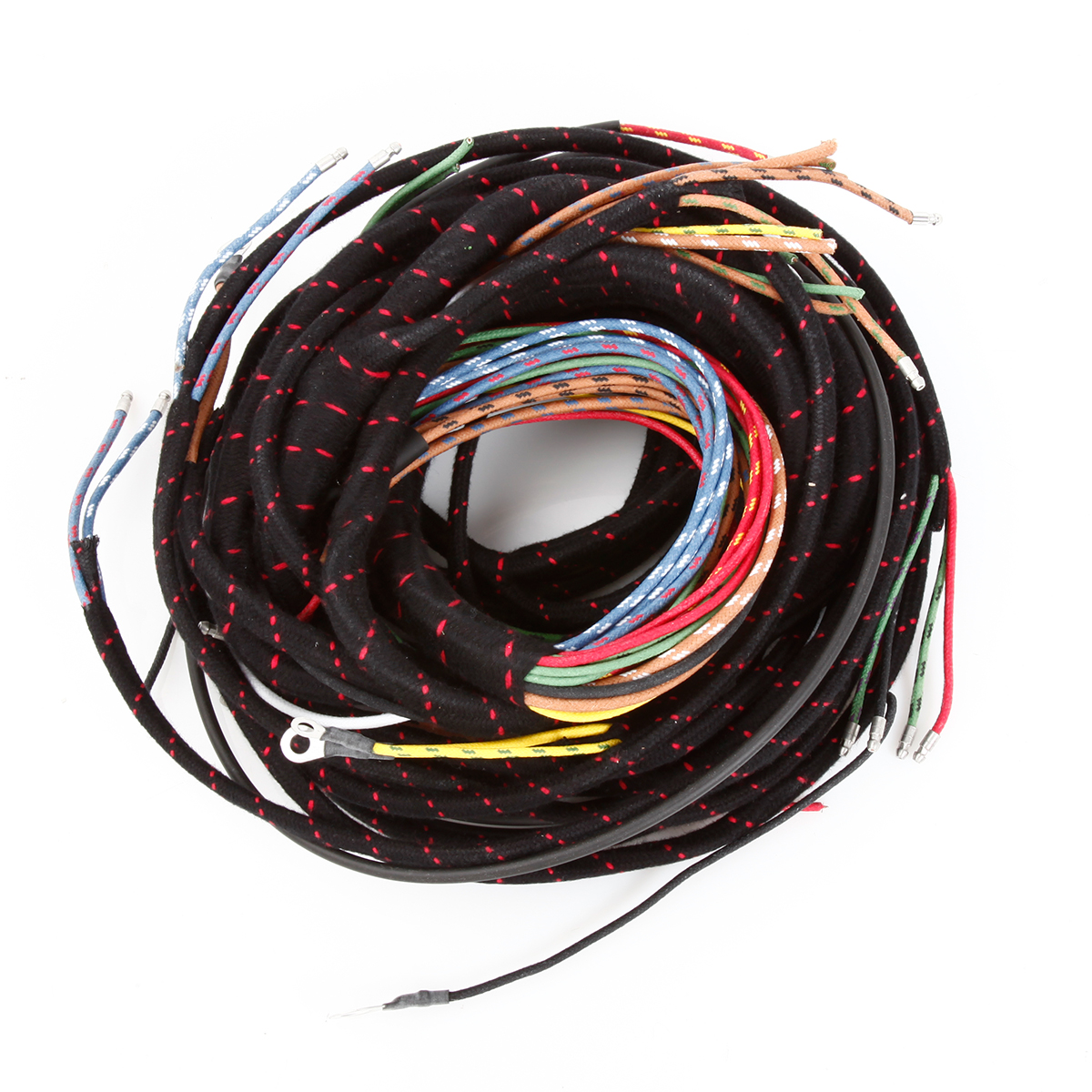 hight resolution of early harness lacquer braid insulation with woven cotton cloth covering