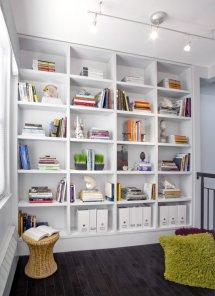 White Home Library Design