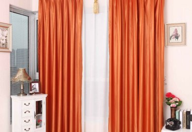 Orange Curtains For Living Room