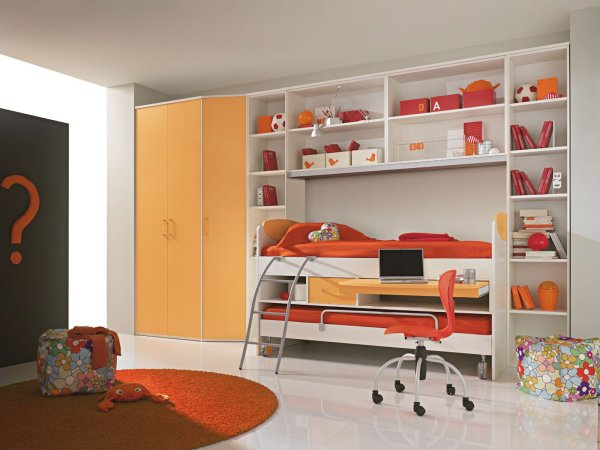 Girls Bedroom with Loft Bed Ideas