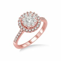 The gallery for --> Flower Engagement Ring Rose Gold