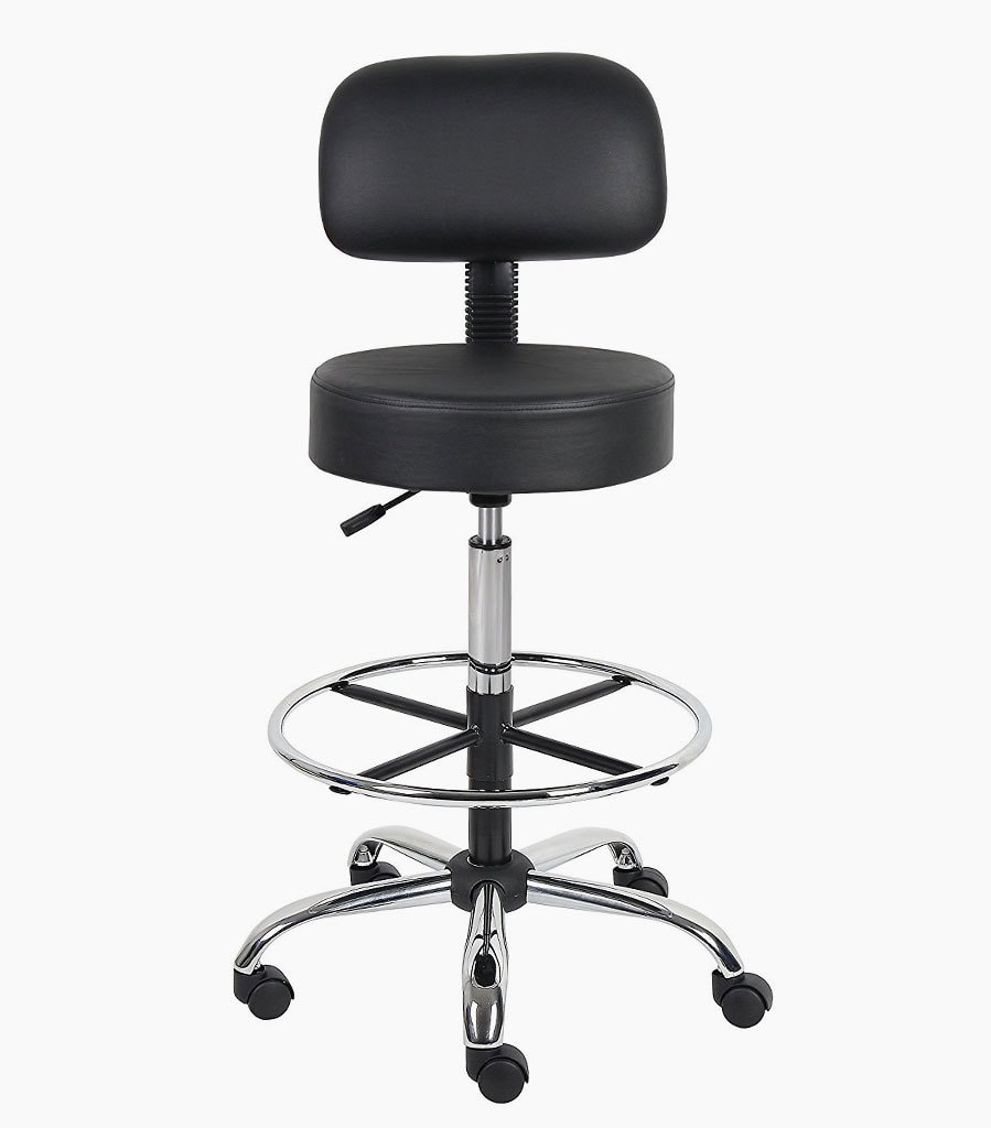 best drafting chair floor with back support most comfortable chairs and stools for standing desks boss office products b16245 bk be well medical spa stool