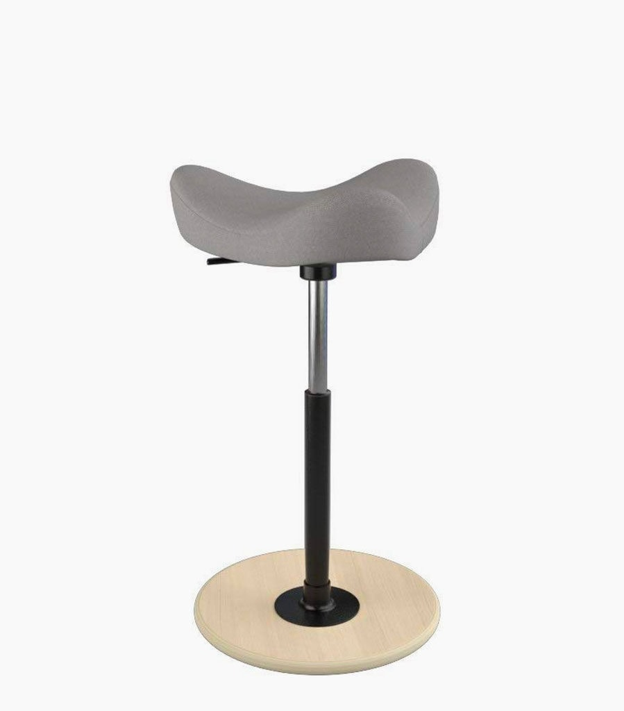 chairs for standing desks transport best most comfortable drafting and stools varier move tilting sandle stool in gray color black metal stand with wood base