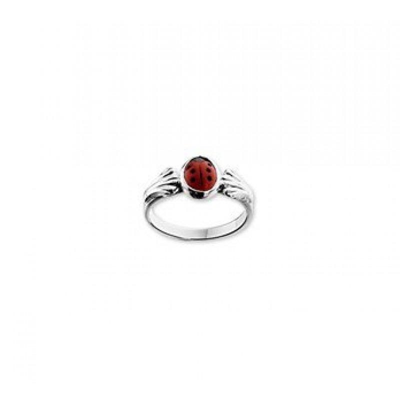 Zilveren ring lieveheersbeestje  Mostert Juweliers