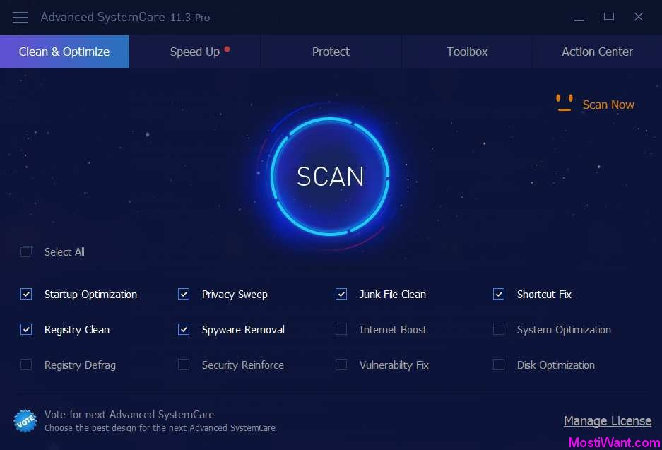 Download IObit Advanced SystemCare Pro 11.5 Free License Code - Most i Want