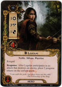 Core Legolas: Ranged, high attack, tactics and quest progress... A staple of tactics multiplayer decks.