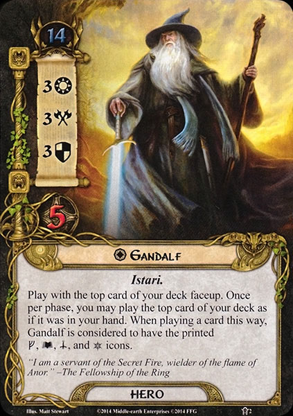 Sword, staff and scarf. This Gandalf has equipped every slot!