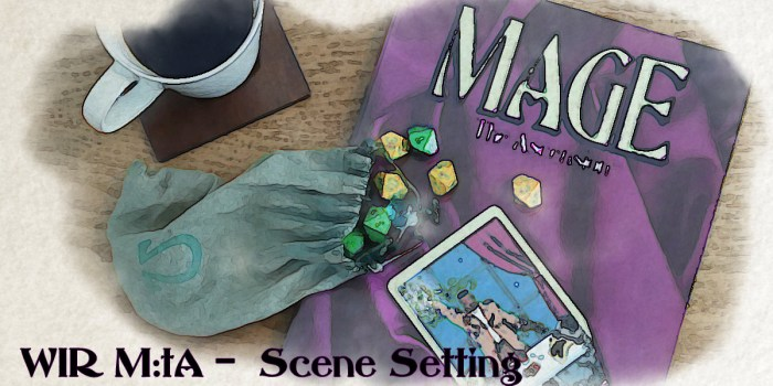 Mage 1st Ascension Cover with Dice