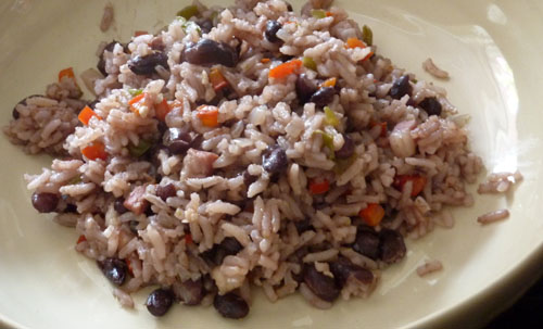 Flavorful Cuban black beans and rice